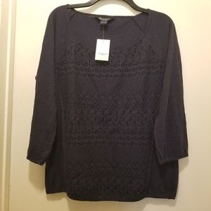 Lucky brand blouse Navy Blue